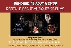 Récital d'orgue musiques de film @ Cathédrale Saint Fulcran